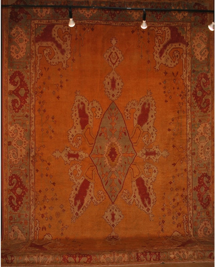 Antique Turkish Oushak 17'4X19'6