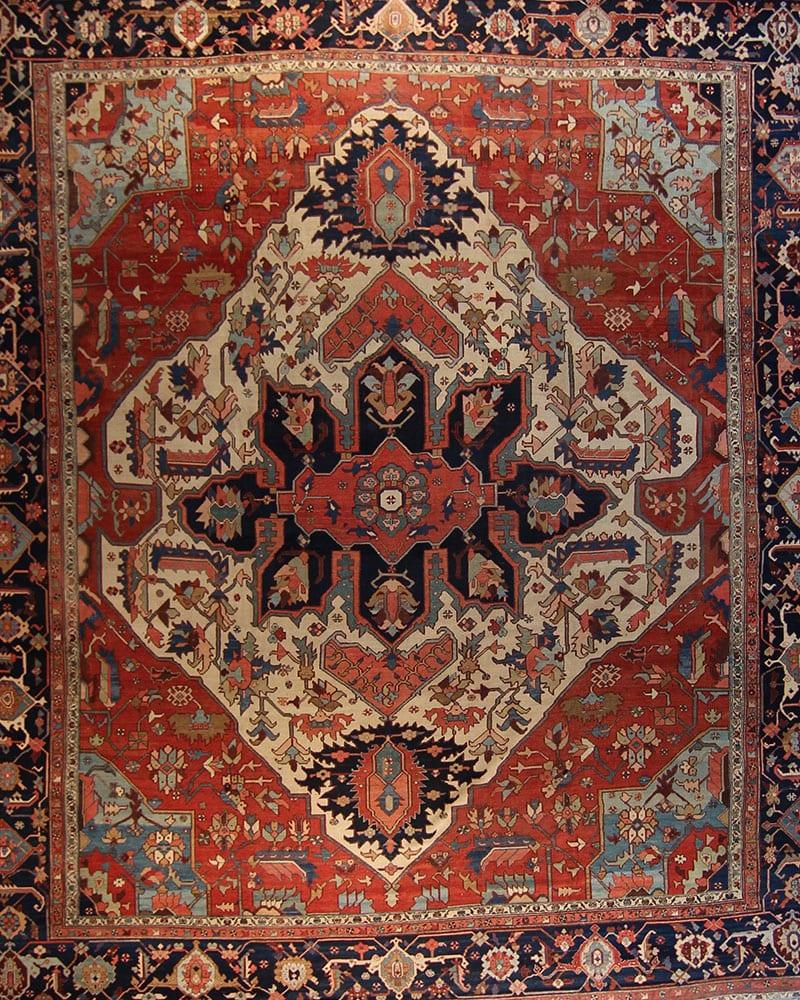 FR5311- Antique Persian Serapi 12'7X17'5